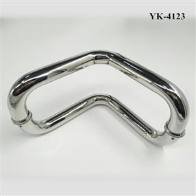 Stainless Steel Round V-Shape Glass Door Handle